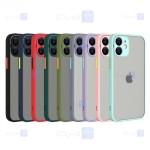 قاب محافظ مات با محافظ لنز اپل Transparent Hybrid Case Apple iPhone 12