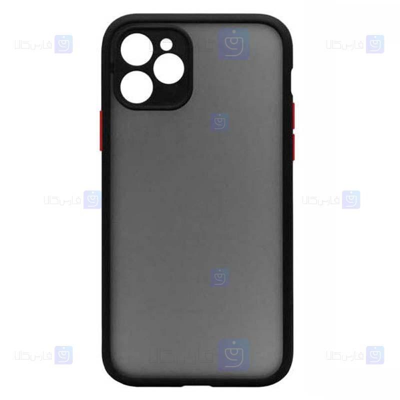 قاب محافظ مات با محافظ لنز اپل Transparent Hybrid Case Apple iPhone 12 Pro