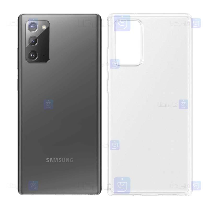قاب محافظ شیشه ای- ژله ای سامسونگ Belkin Transparent Case For Samsung Galaxy Note 20