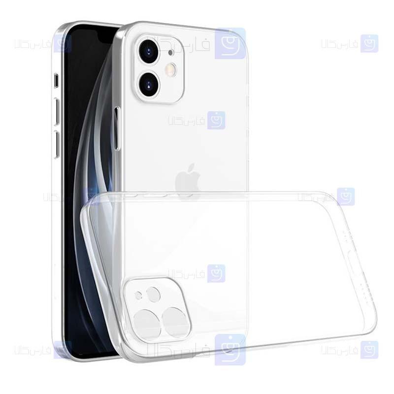 قاب محافظ ژله ای 5 گرمی با محافظ لنز آیفون Clear Jelly Case With lens Protector For Apple iPhone 12