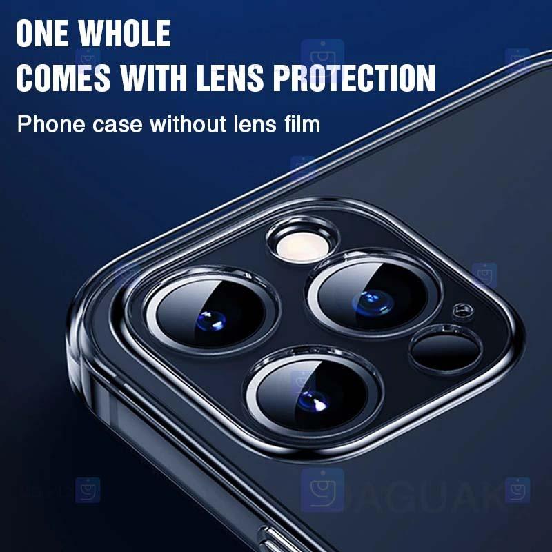 قاب محافظ ژله ای 5 گرمی با محافظ لنز آیفون Clear Jelly Case With lens Protector For Apple iPhone 12 Pro Max