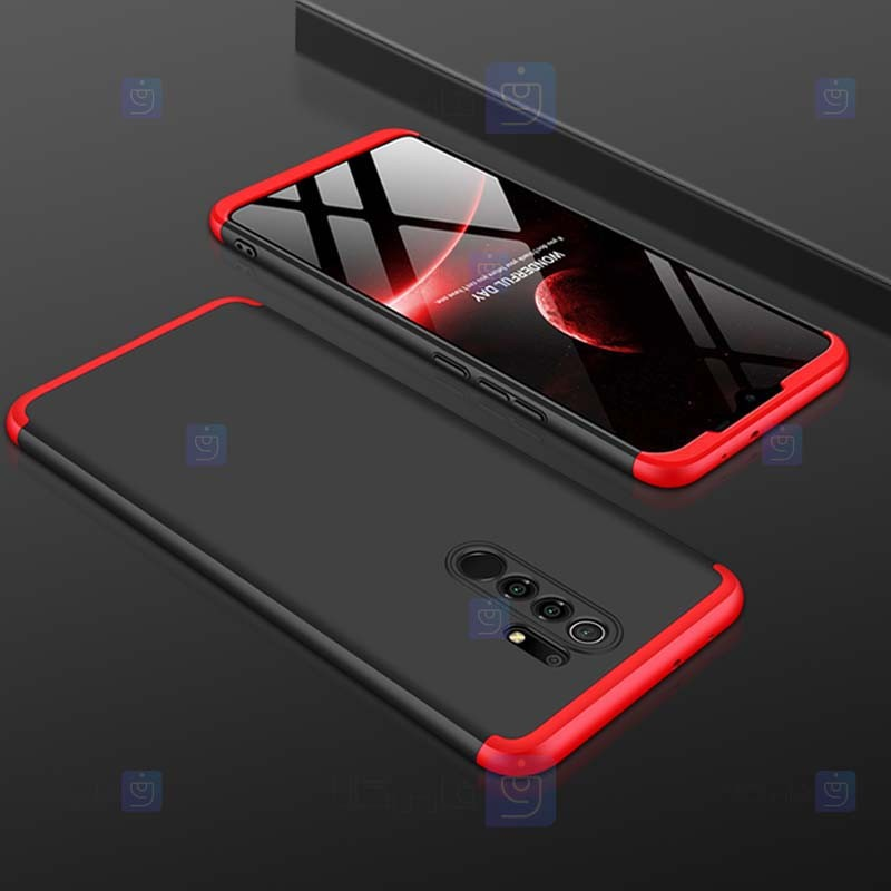 قاب محافظ با پوشش 360 درجه شیائومی GKK Color Full Cover For Xiaomi Redmi 9 Prime