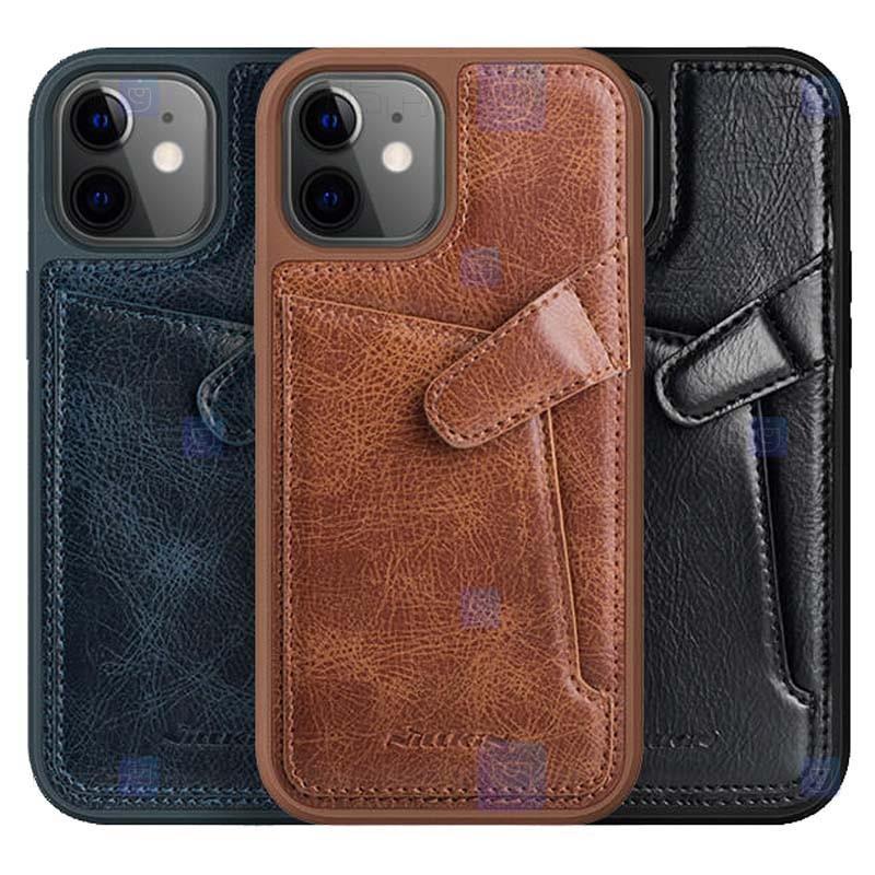 قاب محافظ چرمی نیلکین اپل Nillkin Aoge Leather Case Apple iPhone 12