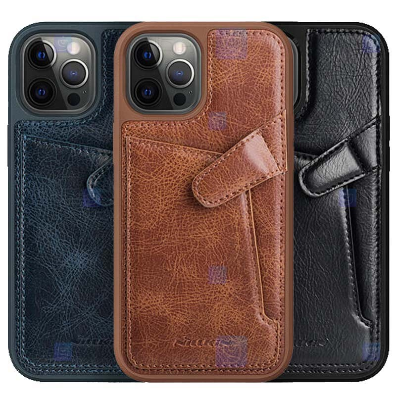 قاب محافظ چرمی نیلکین اپل Nillkin Aoge Leather Case Apple iPhone 12 Pro Max