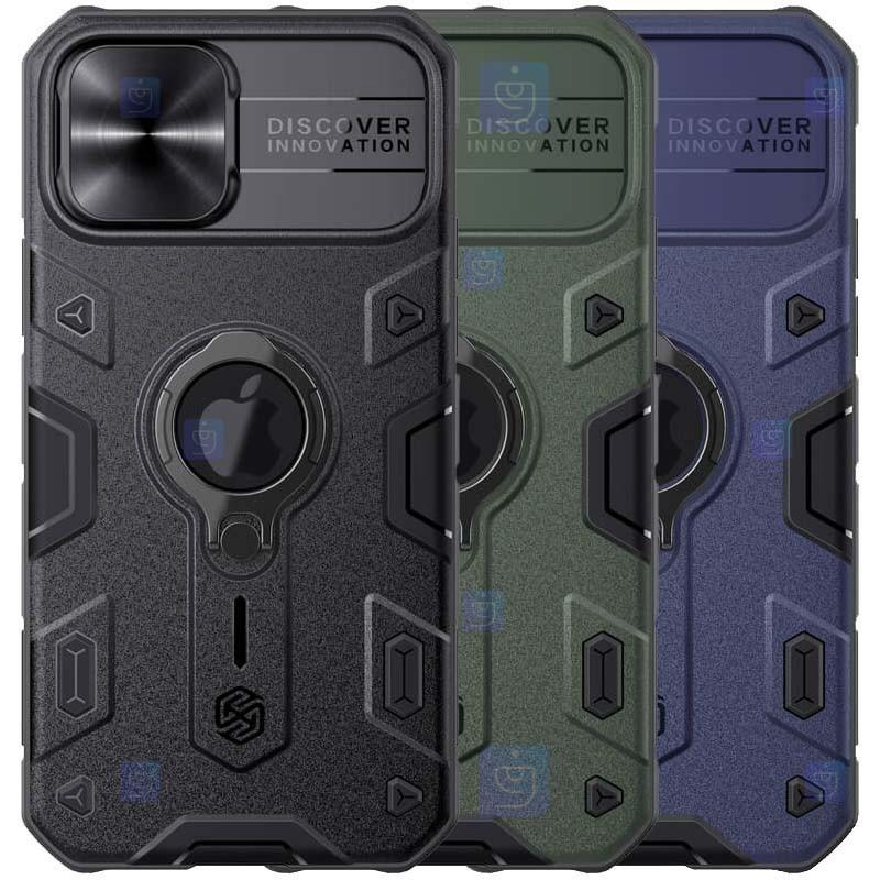 قاب محافظ نیلکین با برش لوگو اپل Nillkin CamShield Armor with LOGO cutout Case Apple iPhone 12 Pro