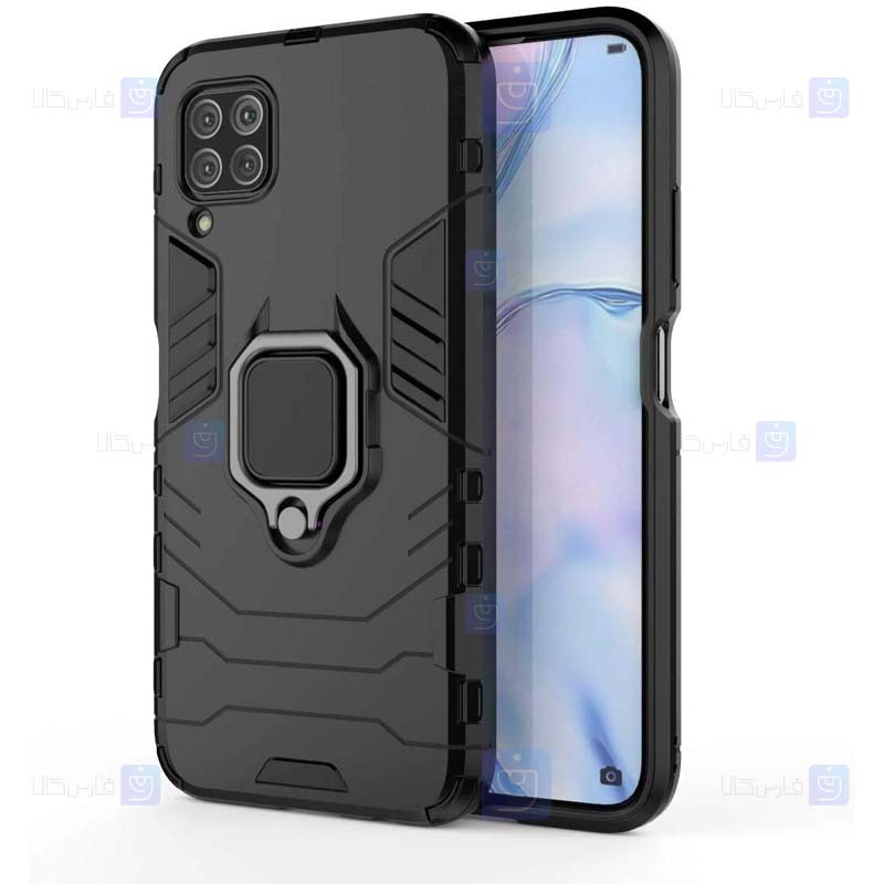قاب محافظ ضد ضربه انگشتی هواوی Ring Holder Iron Man Armor Case Huawei nova 6 SE