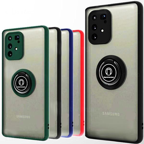 قاب محافظ مات انگشتی سامسونگ Translucent Matte Hybrid Ring Case Samsung Galaxy S10 Lite 2020