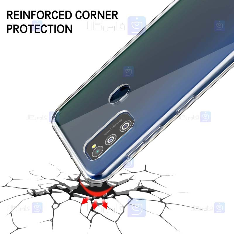قاب محافظ شیشه ای- ژله ای سامسونگ Belkin Transparent Case For Samsung Galaxy M21