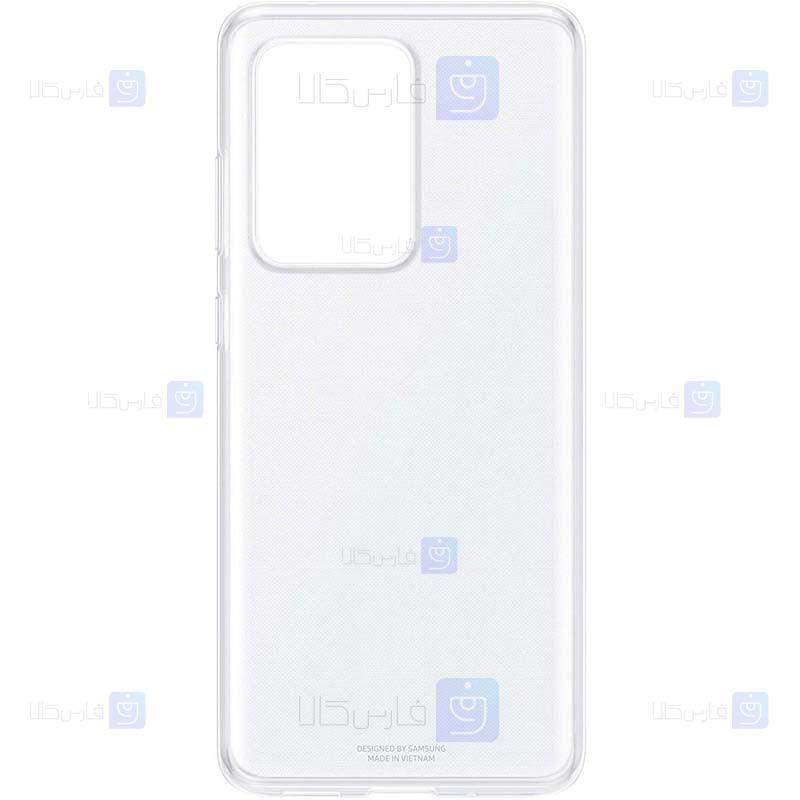 قاب محافظ شیشه ای- ژله ای سامسونگ Belkin Transparent Case For Samsung Galaxy S20 Ultra