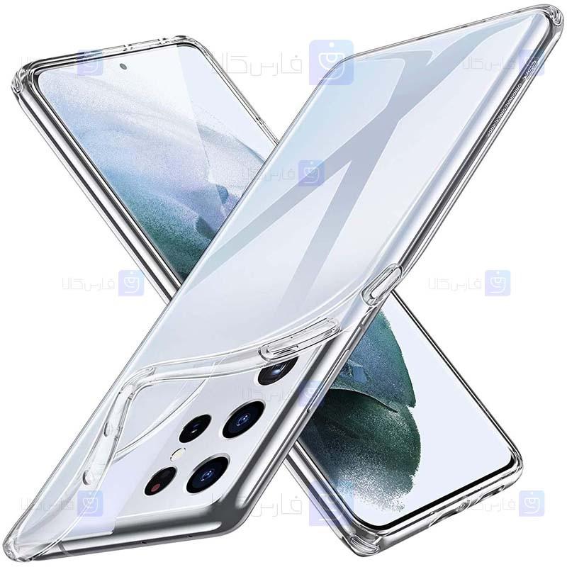 قاب محافظ ژله ای 5 گرمی کوکو سامسونگ COCO Clear Jelly Case For Samsung Galaxy S21 Ultra