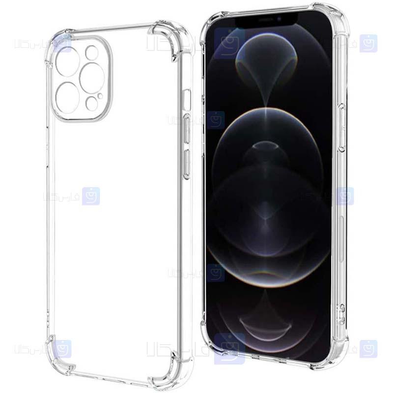 قاب محافظ ژله ای کپسول دار با محافظ لنز آیفون Clear Jelly Air Rubber Case With lens Protector For Apple iPhone 12 Pro Max