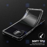 قاب محافظ ژله ای کپسول دار 5 گرمی سامسونگ Clear Tpu Air Rubber Jelly Case For Samsung Galaxy A12
