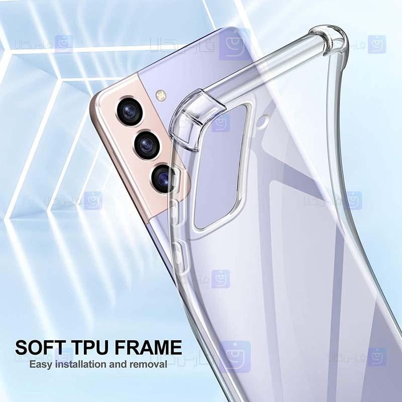 قاب محافظ ژله ای کپسول دار 5 گرمی سامسونگ Clear Tpu Air Rubber Jelly Case For Samsung Galaxy S21