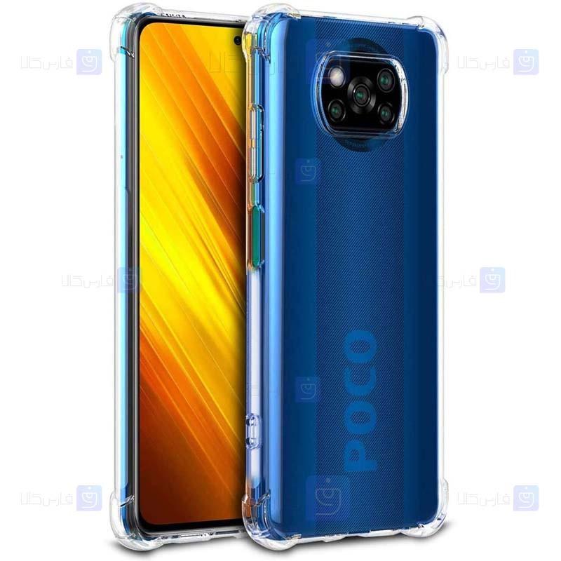 قاب محافظ ژله ای کپسول دار 5 گرمی شیائومی Clear Tpu Air Rubber Jelly Case For Xiaomi Poco X3 NFC