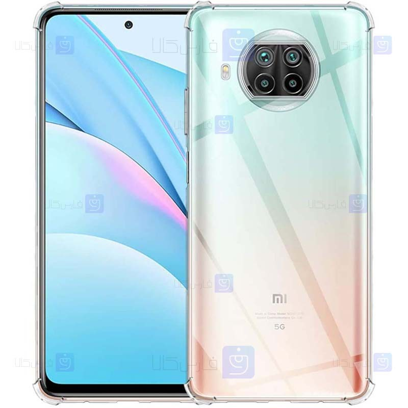 قاب محافظ ژله ای کپسول دار 5 گرمی شیائومی Clear Tpu Air Rubber Jelly Case For Xiaomi Redmi Note 9 Pro 5G