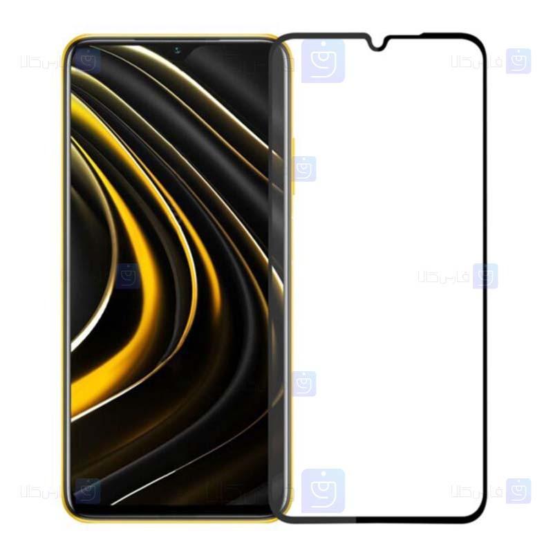 محافظ صفحه نمایش شیشه ای تمام چسب با پوشش کامل شیائومی Full Glass Screen Protector For Xiaomi Poco M3