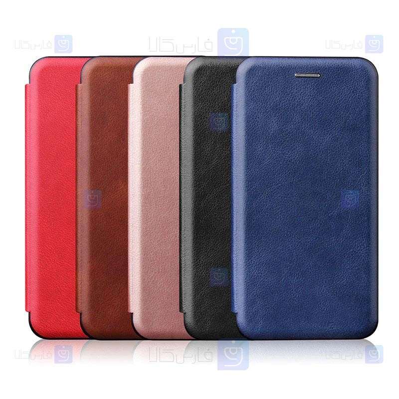 کیف محافظ چرمی هواوی Leather Standing Magnetic Cover For Huawei Y7 2019