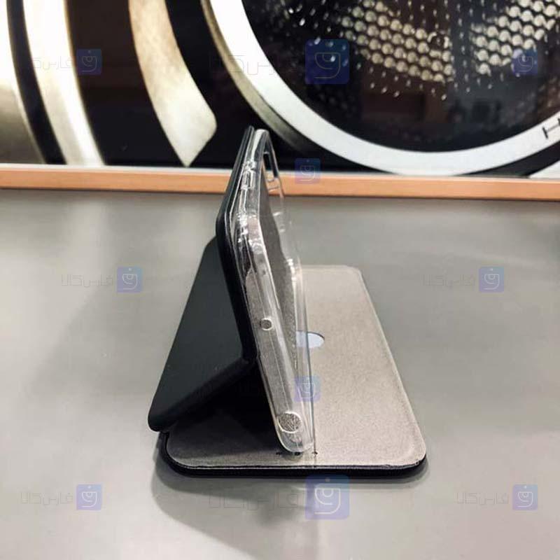 کیف محافظ چرمی سامسونگ Leather Standing Magnetic Cover For Samsung Galaxy A30s