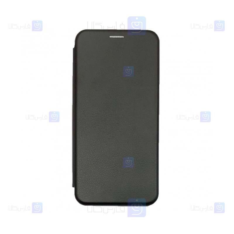 کیف محافظ چرمی سامسونگ Leather Standing Magnetic Cover For Samsung Galaxy A50s