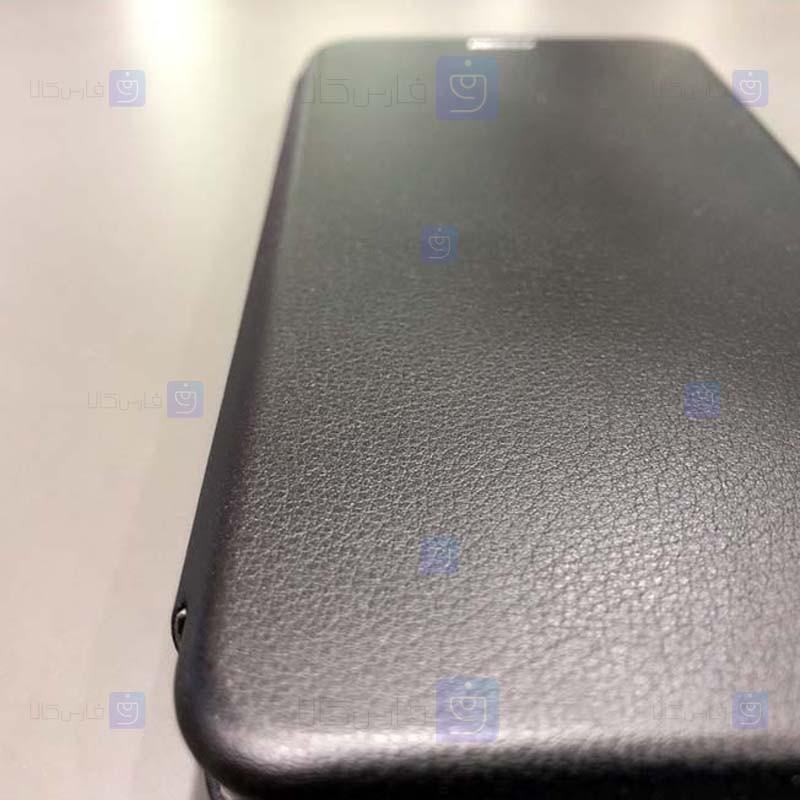 کیف محافظ چرمی سامسونگ Leather Standing Magnetic Cover For Samsung Galaxy S10e