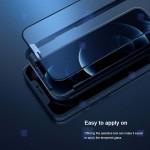 گلس مات تمام صفحه تمام چسب نیلکین آیفون Nillkin Fog Mirror Matte Glass For Apple iPhone 12 Pro Max