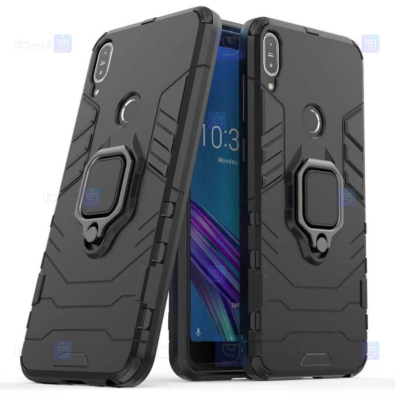 قاب محافظ ضد ضربه انگشتی ایسوس Ring Holder Iron Man Armor Case Asus ZenFone Max Pro M1 ZB602KL