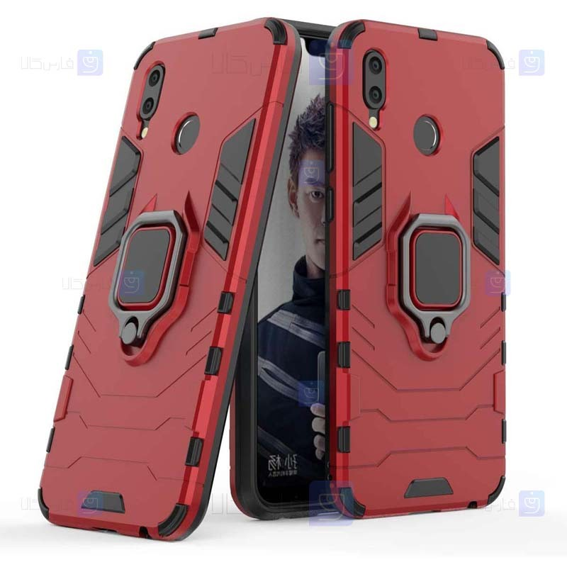 قاب محافظ ضد ضربه انگشتی هواوی Ring Holder Iron Man Armor Case Huawei Honor Play