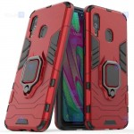 قاب محافظ ضد ضربه انگشتی سامسونگ Ring Holder Iron Man Armor Case Samsung Galaxy A40