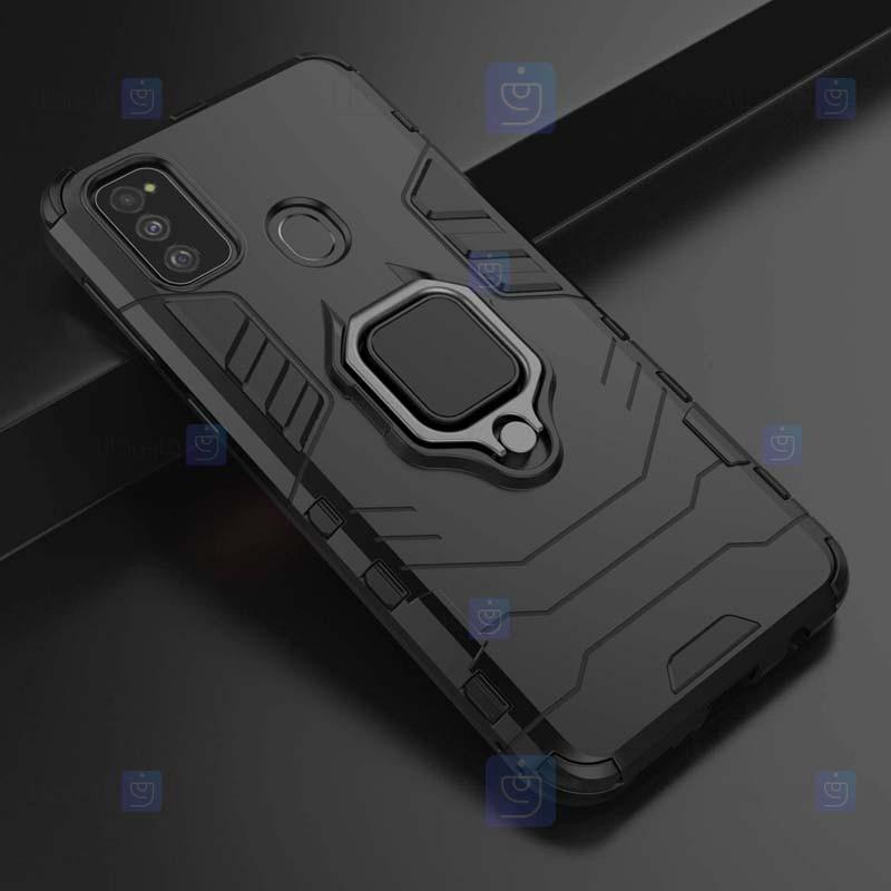 قاب محافظ ضد ضربه انگشتی سامسونگ Ring Holder Iron Man Armor Case Samsung Galaxy M21