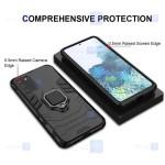 قاب محافظ ضد ضربه انگشتی سامسونگ Ring Holder Iron Man Armor Case Samsung Galaxy S20 plus