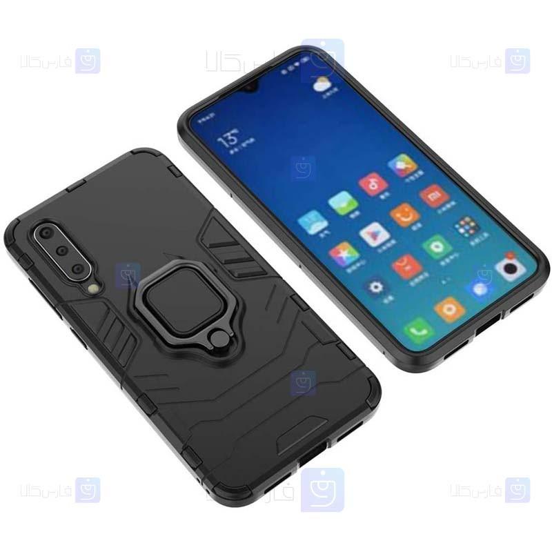 قاب محافظ ضد ضربه انگشتی شیائومی Ring Holder Iron Man Armor Case Xiaomi Mi 9 SE