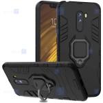 قاب محافظ ضد ضربه انگشتی شیائومی Ring Holder Iron Man Armor Case Xiaomi Pocophone F1