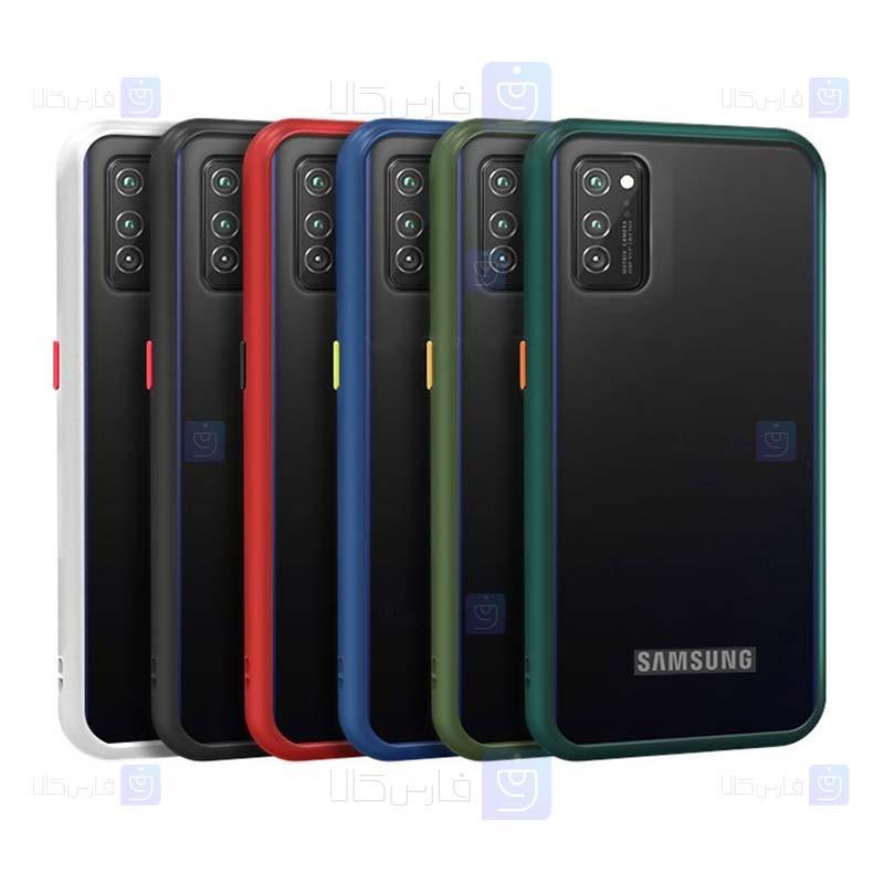 قاب محافظ پشت مات سامسونگ Transparent Hybrid Case Samsung Galaxy A02s