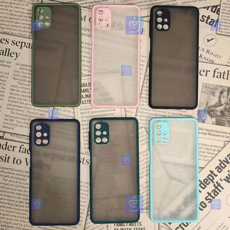 قاب محافظ پشت مات سامسونگ Transparent Hybrid Case Samsung Galaxy M51