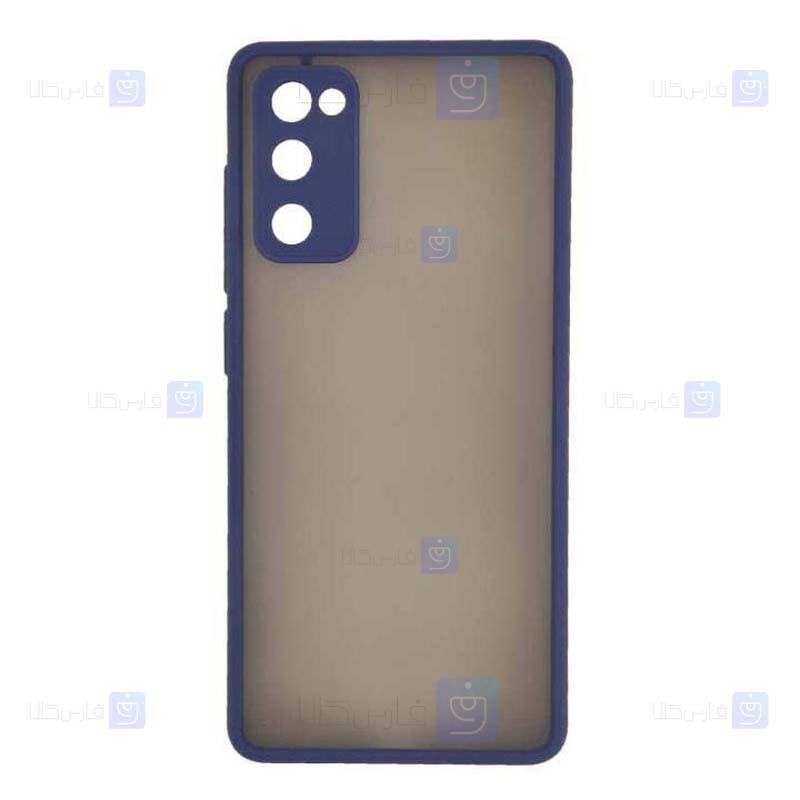 قاب محافظ مات با محافظ لنز سامسونگ Transparent Hybrid Case Samsung Galaxy S20 FE 5G