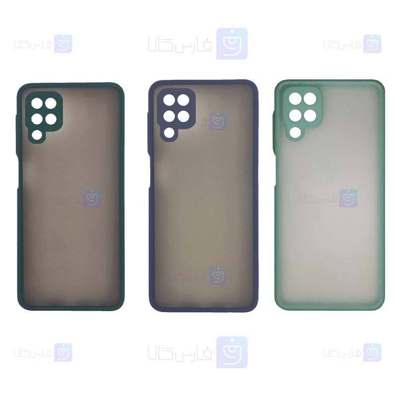 قاب محافظ مات با محافظ لنز سامسونگ Transparent Hybrid Case With Lens Protector Samsung Galaxy A42 5G