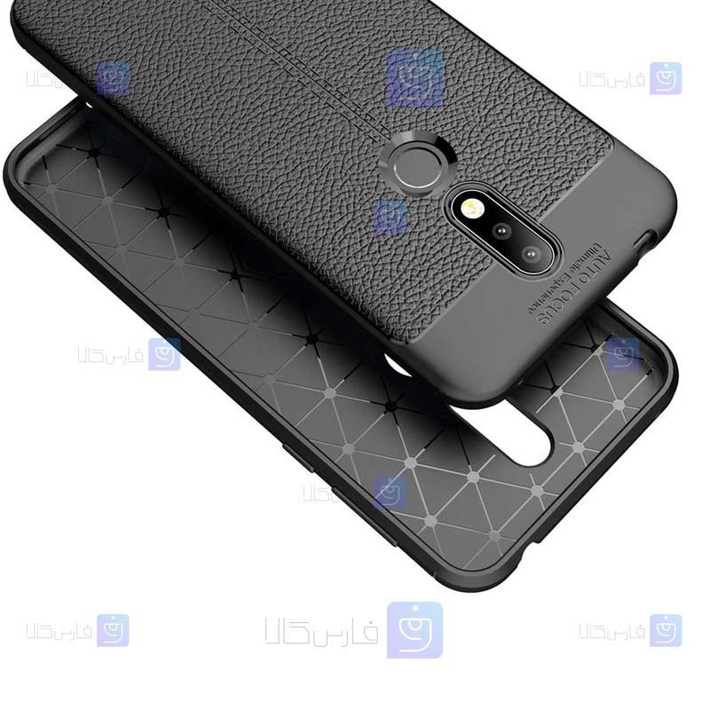 قاب ژله ای طرح چرم نوکیا Auto Focus Jelly Case For Nokia 7.1