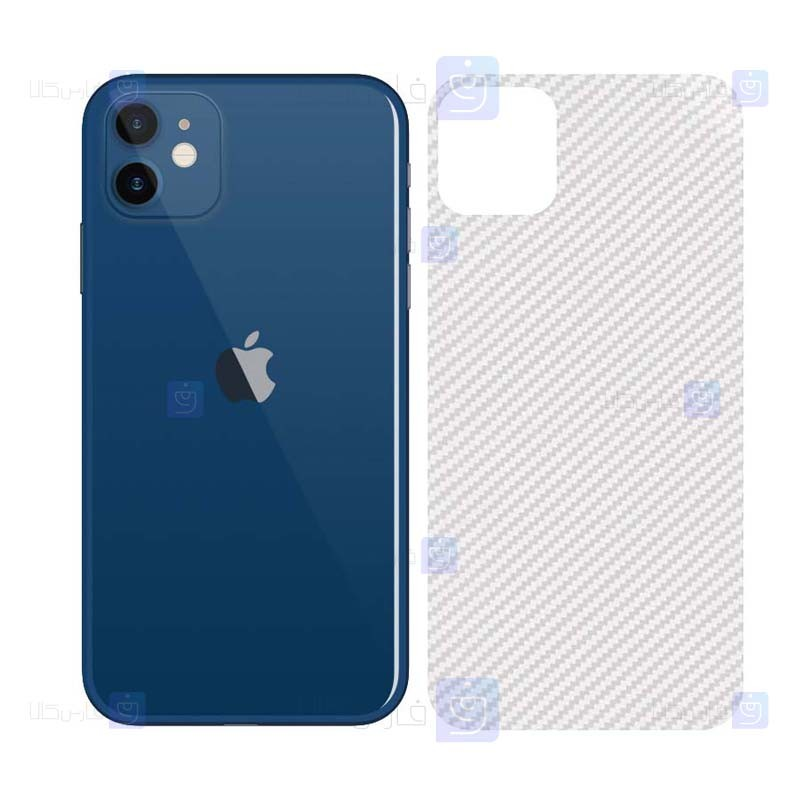 برچسب محافظ پشت کربنی اپل Carbon Sticker Back Nano Protector for Apple iPhone 12