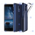 قاب محافظ ژله ای 5 گرمی نوکیا Clear Jelly Case For Nokia 8