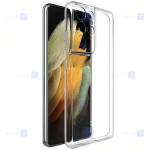 قاب محافظ ژله ای با محافظ لنز سامسونگ Clear Jelly Case With lens Protector For Samsung Galaxy S21 Ultra