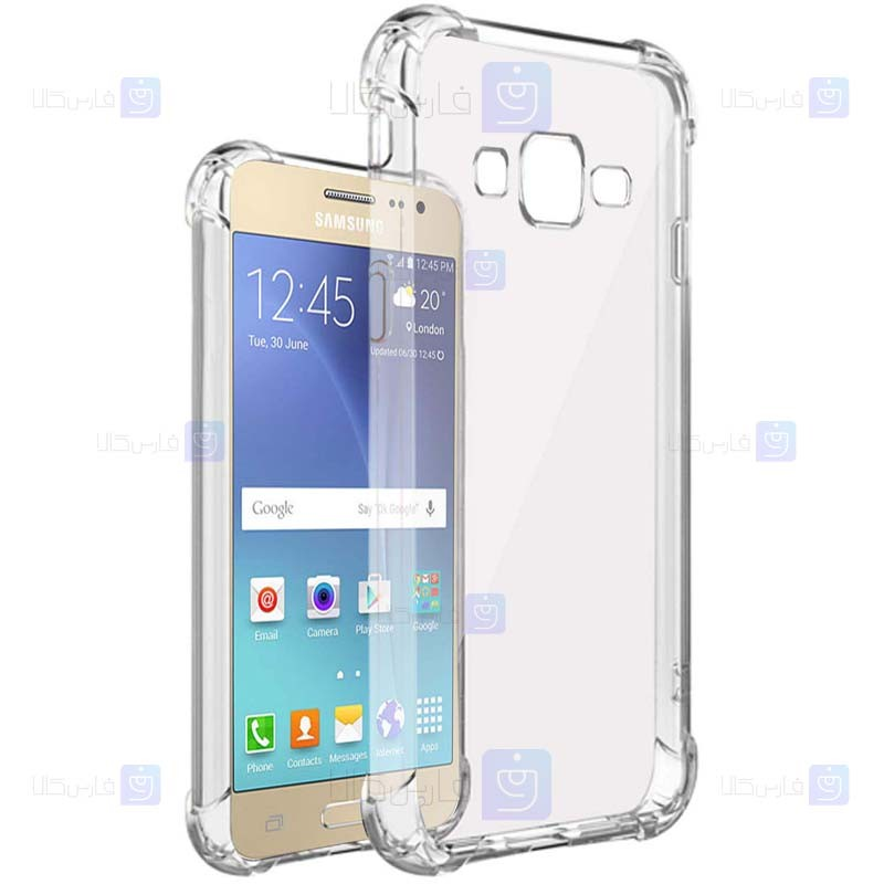 قاب محافظ ژله ای کپسول دار 5 گرمی سامسونگ Clear Tpu Air Rubber Jelly Case For Samsung Galaxy J2