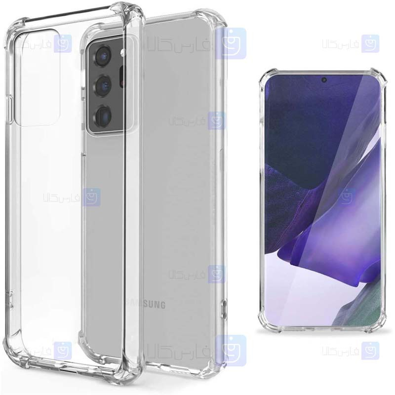 قاب محافظ ژله ای کپسول دار 5 گرمی سامسونگ Clear Tpu Air Rubber Jelly Case For Samsung Galaxy Note 20 Ultra
