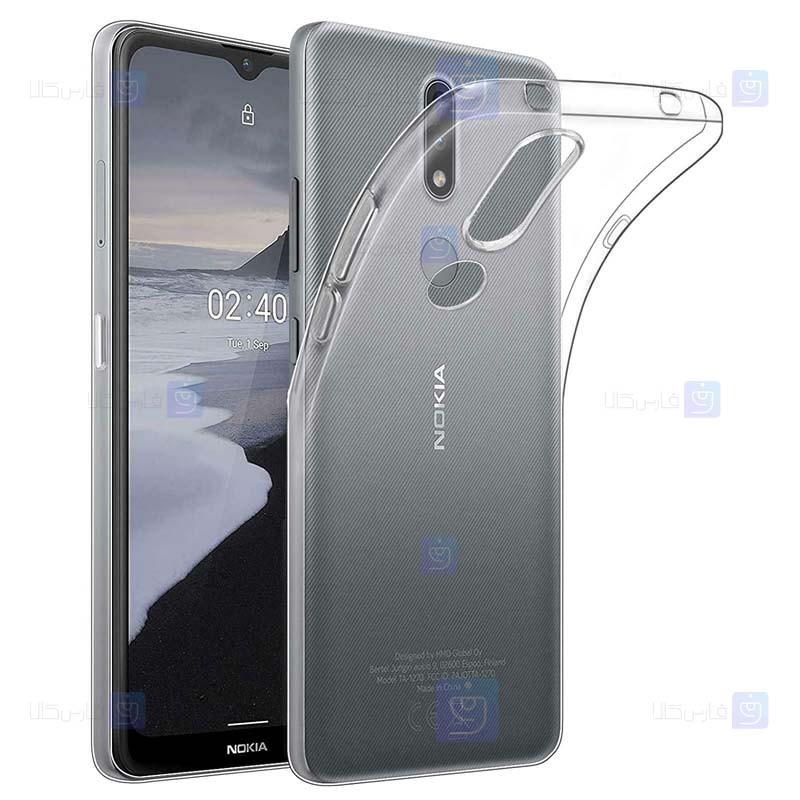 قاب محافظ ژله ای 5 گرمی کوکو نوکیا Coco Clear Jelly Case For Nokia 2.4