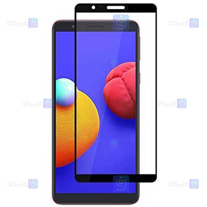 محافظ صفحه نمایش شیشه ای تمام چسب با پوشش کامل سامسونگ Full Glass Screen Protector For Samsung Galaxy M01 Core
