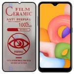 محافظ صفحه نمایش سرامیکی حریم شخصی تمام صفحه سامسونگ Full Privacy Ceramics Screen Protector Samsung Galaxy A01