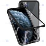 قاب محافظ مگنتی اپل Glass Magnetic 360 Case Apple iPhone 12 Pro