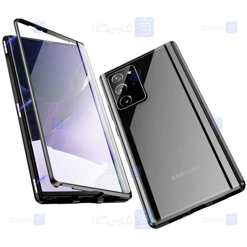 قاب محافظ مگنتی سامسونگ Glass Magnetic 360 Case Samsung Galaxy Note 20 Ultra