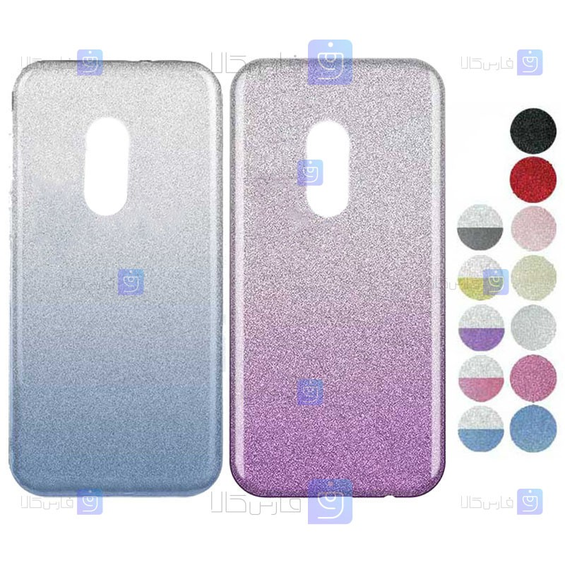 قاب ژله ای اکلیلی نوکیا Glitter Gradient Color Alkyd Jelly Case Nokia 3