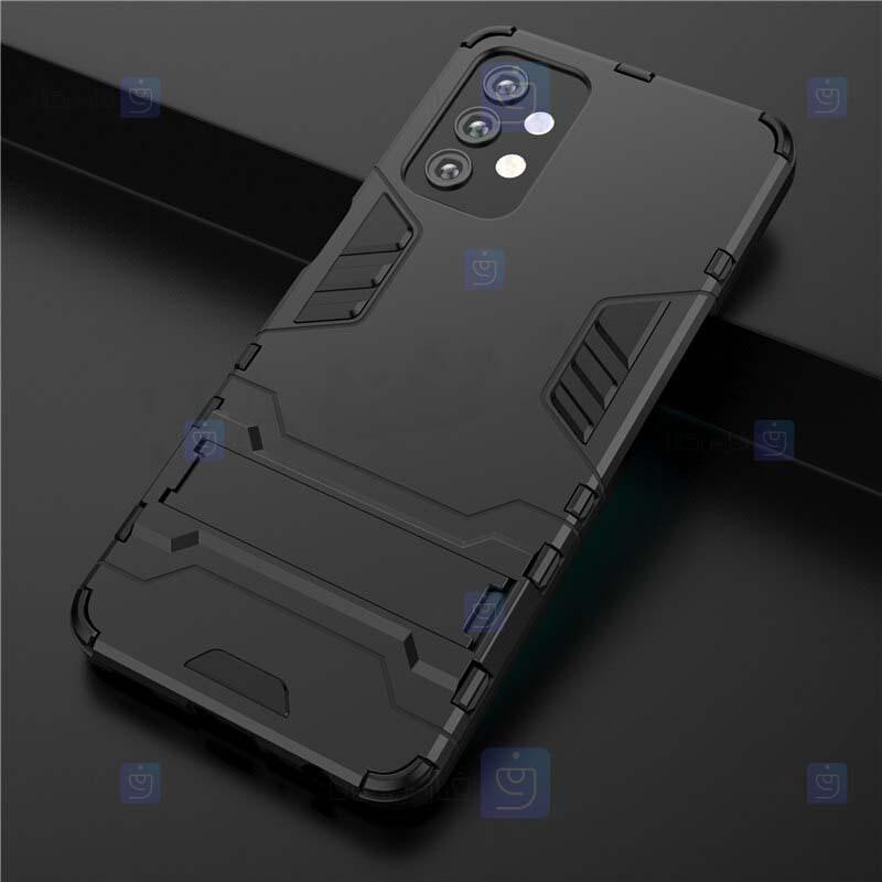 قاب محافظ استند دار سامسونگ Kick Stand Iron Man Armor Case Samsung Galaxy A32 5G