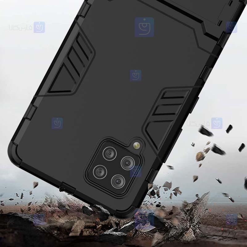 قاب محافظ استند دار سامسونگ Kick Stand Iron Man Armor Case Samsung Galaxy A42 5G